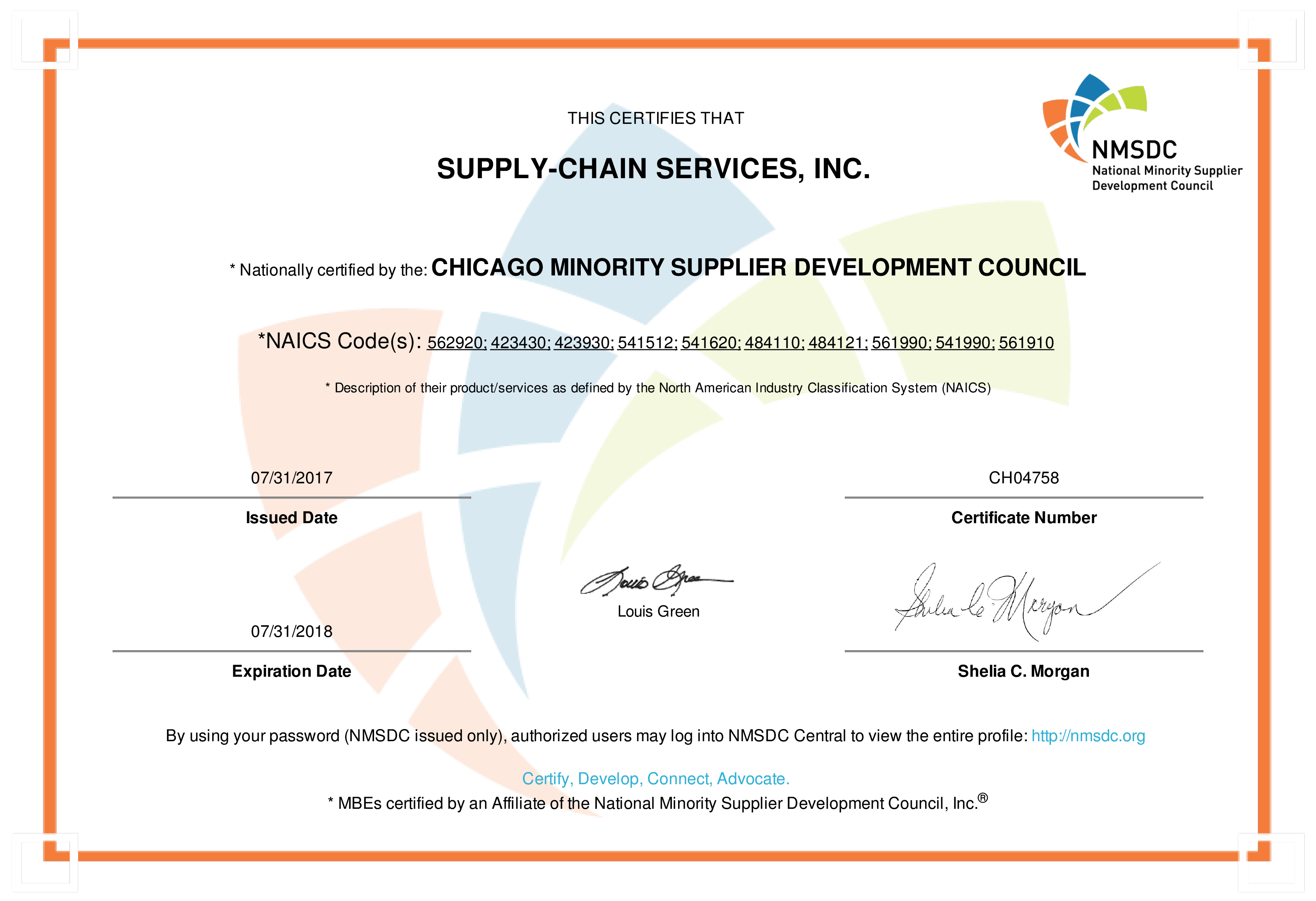Nmsdc Certified Minority Business Enterprise Supply Chain Services